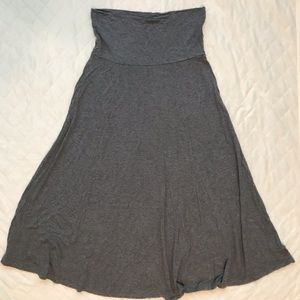 GAP gray maxi skirt